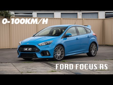Ford Focus RS -km/h (with launch control)