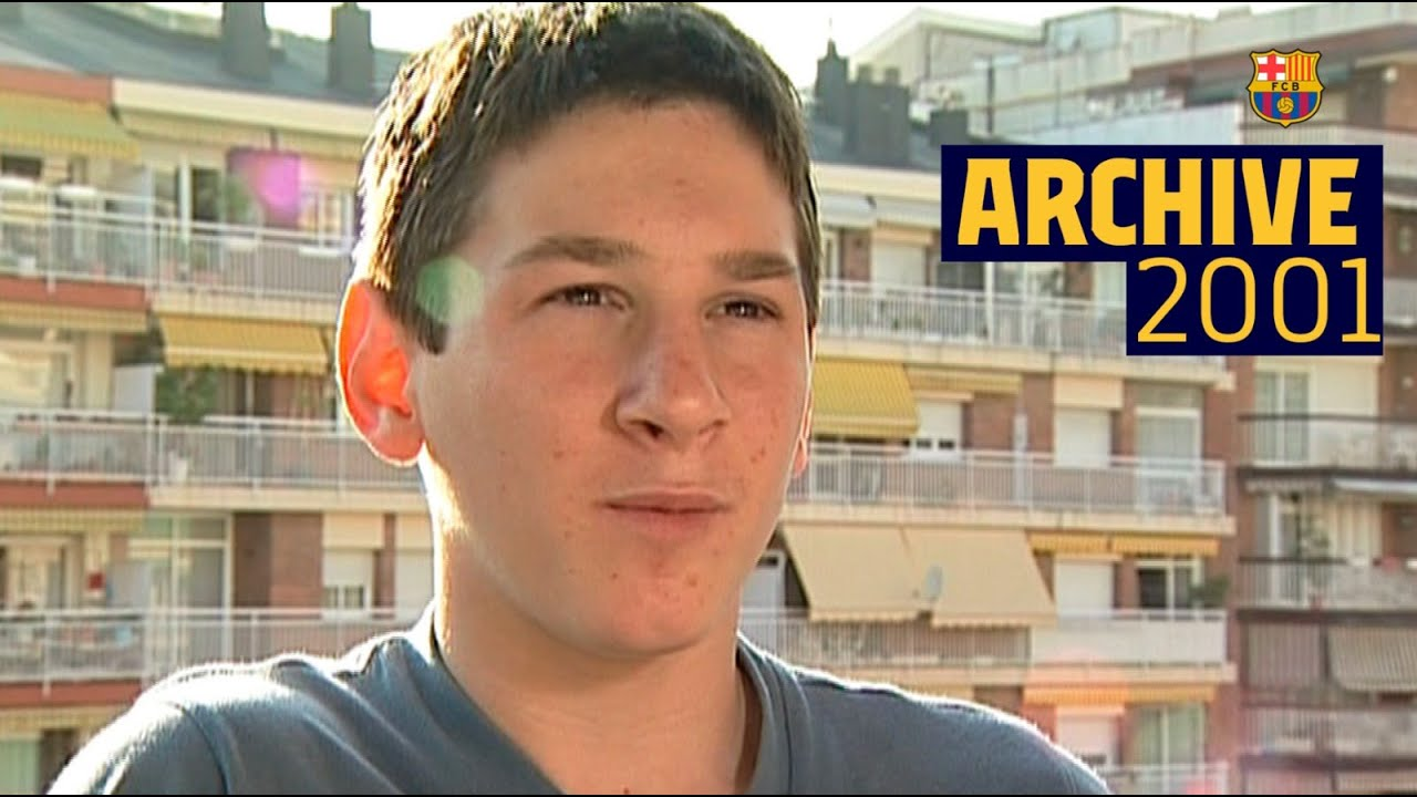 Young MESSI *FIRST WORDS* at Barça 2001 (UNSEEN FOOTAGE)