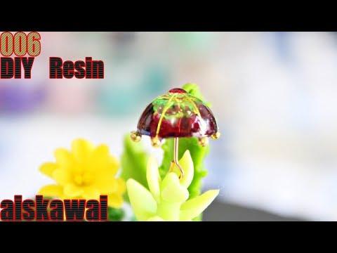 [Resin Tutorial] DIY miniature umbrella  from uv resin/ DIY resin