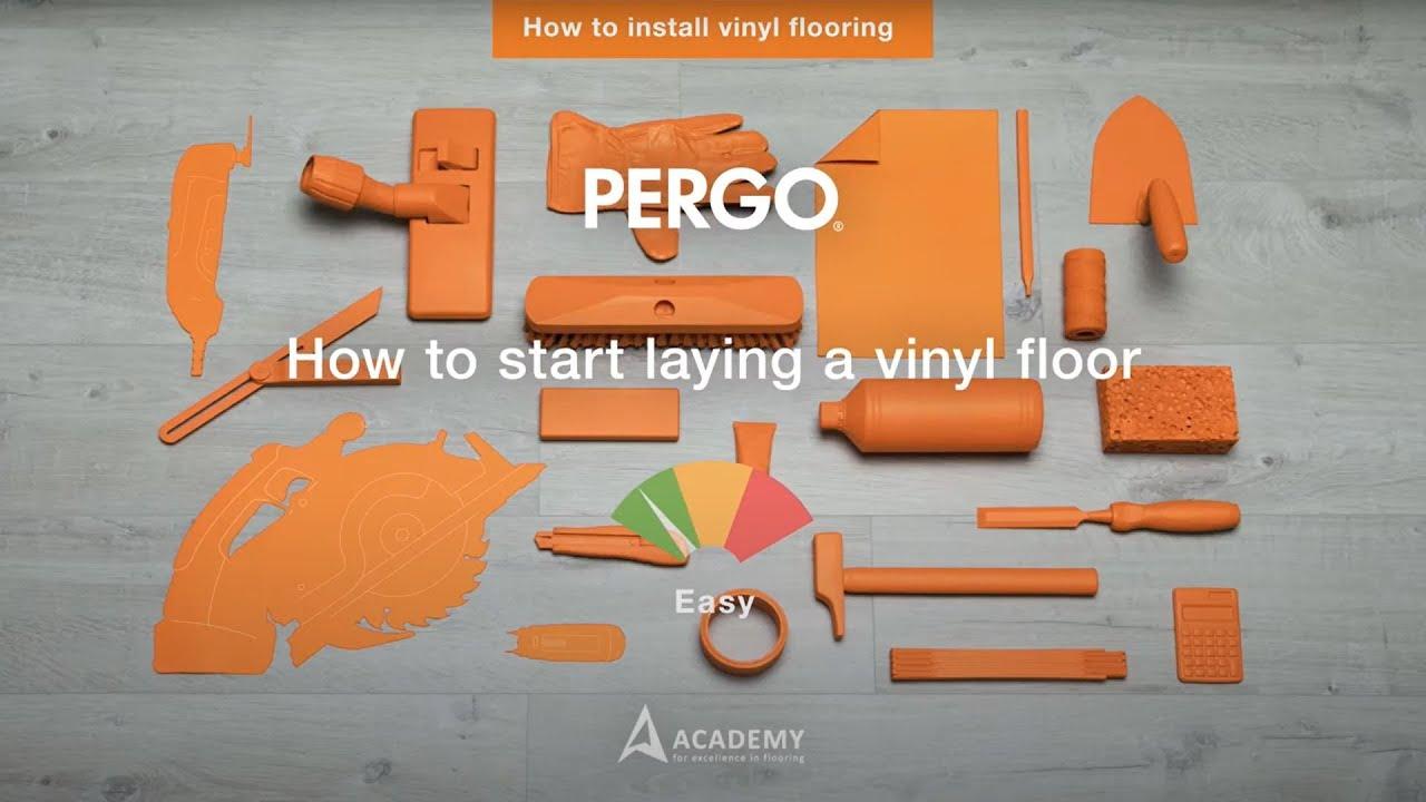Installing Pergo vinyl flooring - How to start laying a vinyl floor