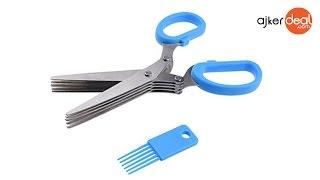Multi Layer Blade Vegetable Cutter kitchen Scissor in Bangladesh | 5 Blade Kitchen Scissor bd