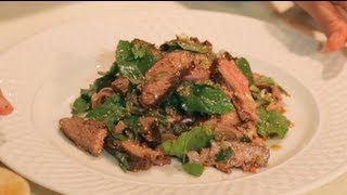 Nam Tok - Spicy Beef Salad W/ Mint - Hot Thai Kitchen! - เนื้อนำ้ตก