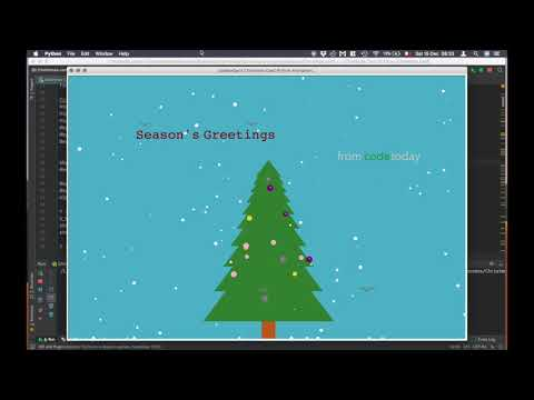 CodeToday Christmas Card in Python