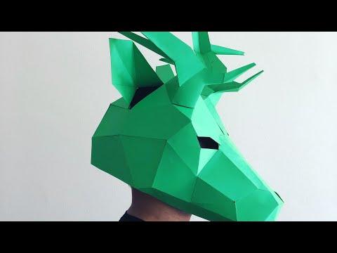 Wintercroft Stag/ Deer Mask Timelapse Build