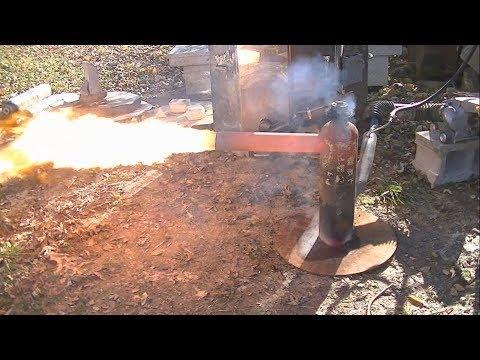oil burner combustion chamber first start