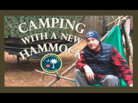HAMMOCK CAMPING WITH A BEER AND A STEAK
