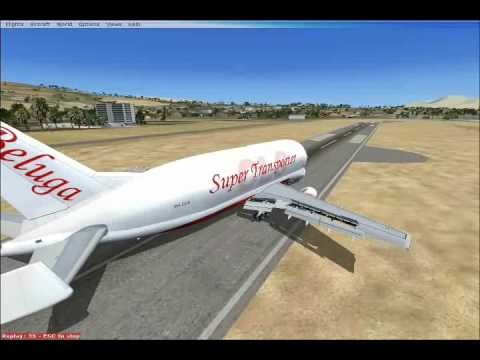 Fsx:Airbus A300-600ST Beluga Perfect Landing In Eilat Airport