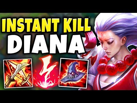 THIS DIANA BUILD IS ACTUALLY RIDICULOUS! 1V5 CARRY EVERY GAME!League of Legends