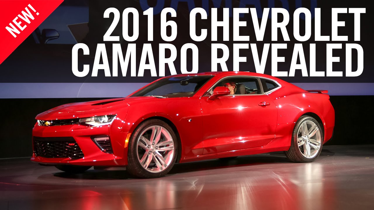 2016 Chevrolet Camaro Reveal Sixth Generation - YouTube