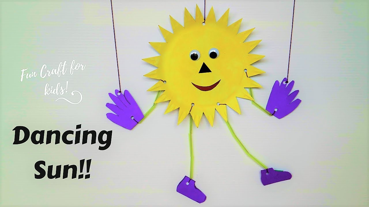 Dancing Crafts Fun Summer Crafts For Kids Easy Paper Plate Sun