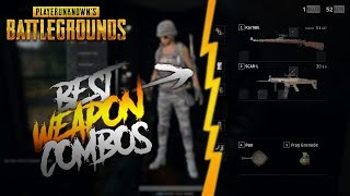 TOP 5 BEST WEAPON COMBOS TO USE IN PUBG!!!