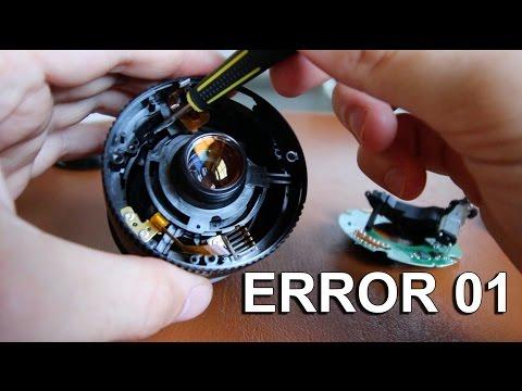 Canon EF-S 18-55mm | REPARAR error 01
