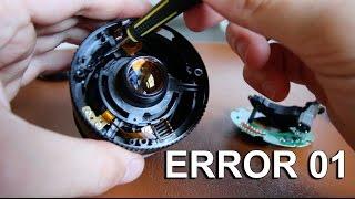 Canon EF-S 18-55mm   REPARAR error 01