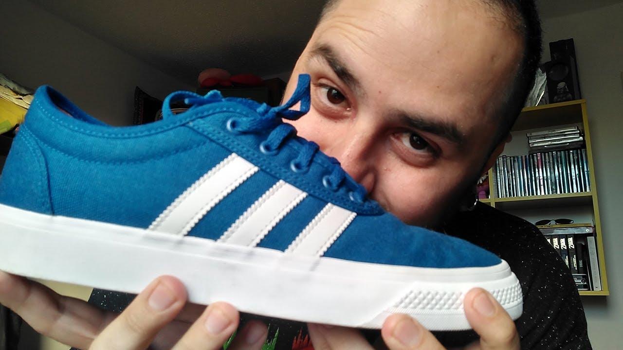 colores delicados nuevo diseño más de moda Adidas | Unboxing Tênis Adidas Adiease azul Collegiate Royal - YouTube