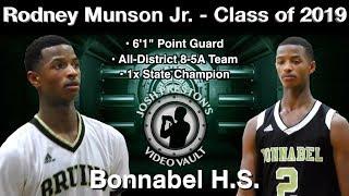 Rodney Munson Highlights (2018 Playoffs/St. Aug Tournament) - Bonnabel 2019 PG