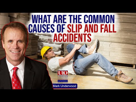 What are the common causes of slip and fall accidents?