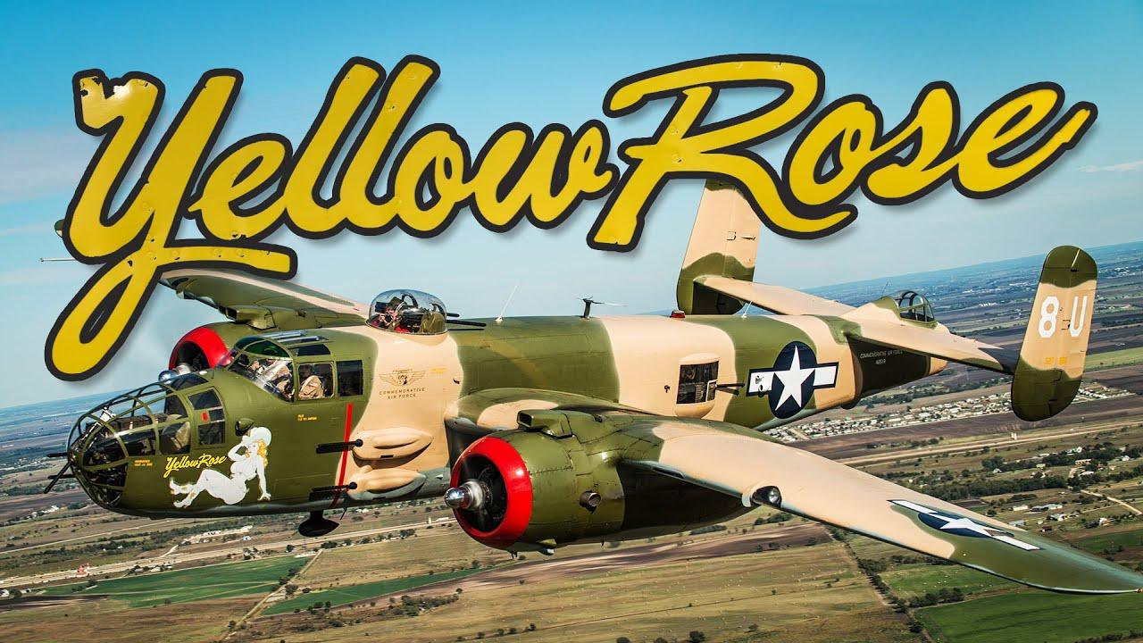 B 25 Mitchell Bomber Yellow Rose Commemorative Air