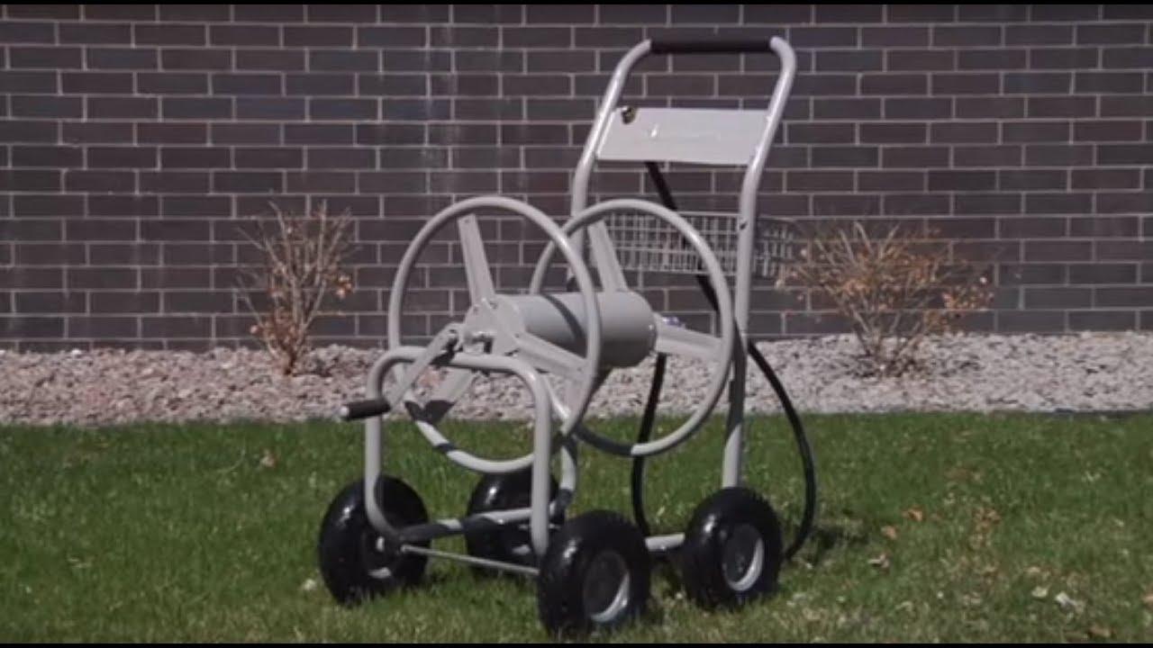 Strongway Garden Hose Reel Cart Holds 400ft X 5 8in Hose Youtube