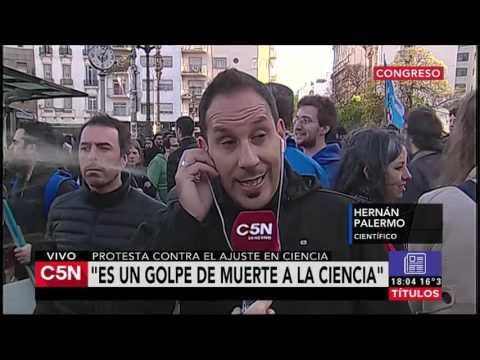 C5N - El Diario: Marcha de cientificos argentinos (Parte 1)