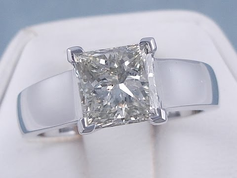 2.00 ct Princess Cut K SI1 Diamond Engagement Ring