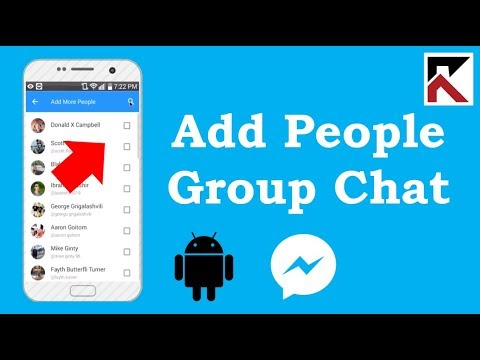 How To Add Someone In A Facebook Messenger Group Conversation Android