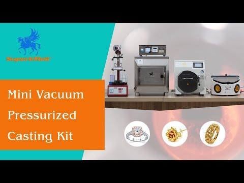 Mini Vacuum Jewelry Casting Kit, Gold/platinum/silver Jewellery & Dental Casting Machine