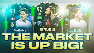 THE MARKET IS UP BIG! TRADING RIGHT NOW IS INSANE AND FODDER IS CRASHING! FIFA 21 Ultimate Team