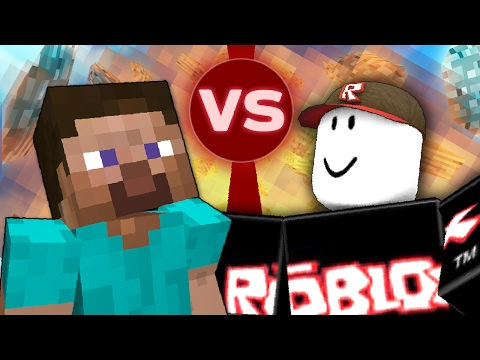 Thumbnail: Minecraft vs Roblox