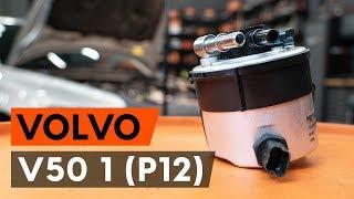 Cоmo cambiar filtro de combustible VOLVO V50 1 (P12) [VÍDEO TUTORIAL DE AUTODOC]
