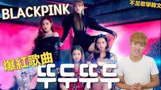 BLACKPINK - 뚜두뚜두 (DDU-DU DDU-DU)  韓文歌詞解析  韓國流行歌學韓文 #8