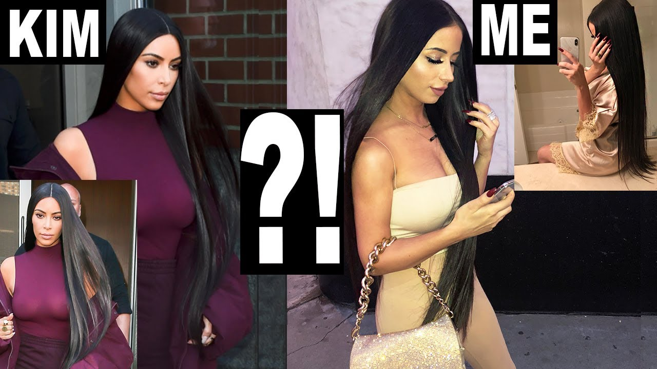 WEARING KIM KARDASHIAN'S HAIR FOR A DAY!