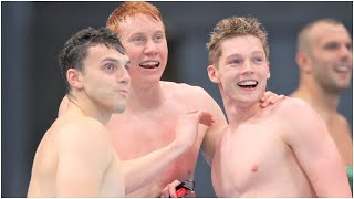 Team Great Britain Wins Silver Medal in Men's 4 x 100m Medley Relay Tokyo Olympics 2020