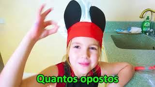 Cinco Crianças - Os Opostos Canção Nursery Rhymes & Crianças Canções