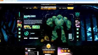 new transformers fall of cybertron website tour