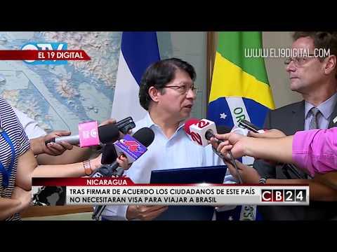 Tras firma de acuerdo ahora los nicaragüenses no necesitarán visa para viajar a Brasil