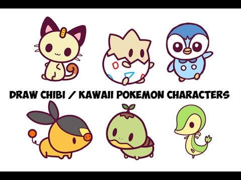 How To Draw Pokemon Characters Step By Step Easy For Kids Cute