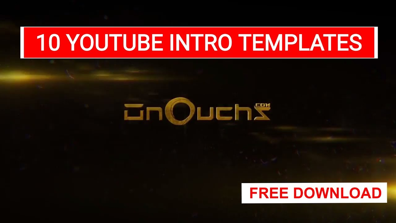 Top 10 free youtube intro download glitch free intro for After effects youtube intro