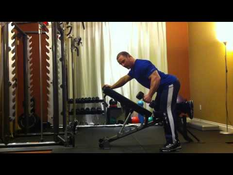 Montreal Private Trainer - Incline Dumbbell Row