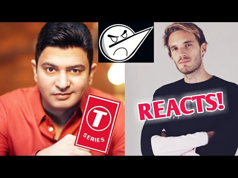 T-Series Owner Bhushan Kumar's Message To Indians, PewDiePie Reacts!   Angry Prash Face Reveal? BYN