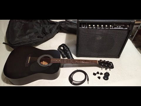 Электроакустическая гитара Cort AD810E и комбоусилитель Monacor GA300