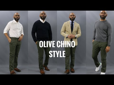 Download Youtube: How To Wear Olive Chinos/How To Style Olive Chinos 4 Ways