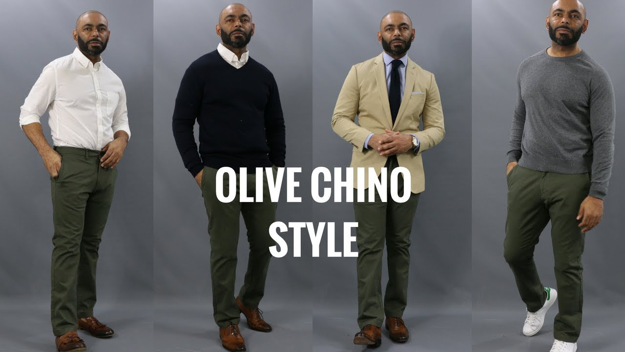 4155313381c How To Wear Olive Chinos How To Style Olive Chinos 4 Ways - YouTube