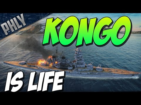 World Of Warships - EPIC BATTLESHIP BATTLE  - Kongo IS LYFE!