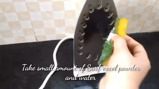 How to Clean Iron | Iron Box Bottom Plate | Iron box cleaning | Iron soleplate cleaning