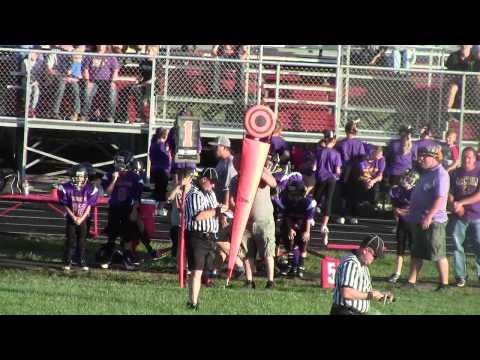 East Clinton Peewee Football Junior Varsity V vs Greenfield Tigers 9 19 2015