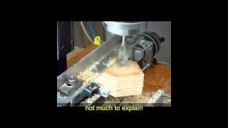 Wooden Birdhouse Pieces & Sherline Mill