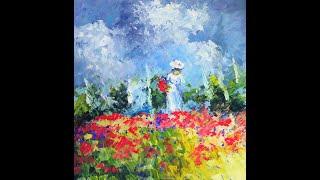 Художники,которые меня вдохновляют.Этюд,девушка среди маковых полей.