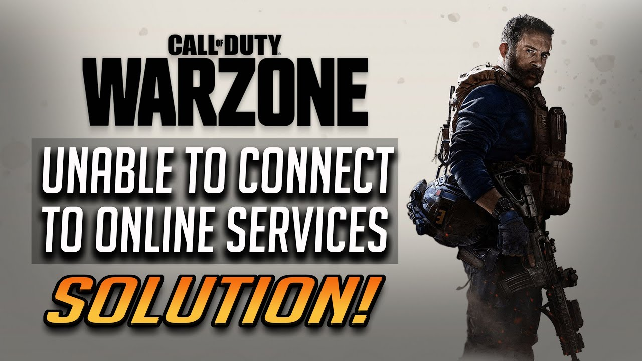 How To Fix Unable To Access Online Services Connection Failed Problem In Call Of Duty Warzone Youtube At launch, specific vpns and internet service providers were. how to fix unable to access online services connection failed problem in call of duty warzone