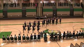 20121215 edina dance team kick dance at edina invite 3rd place
