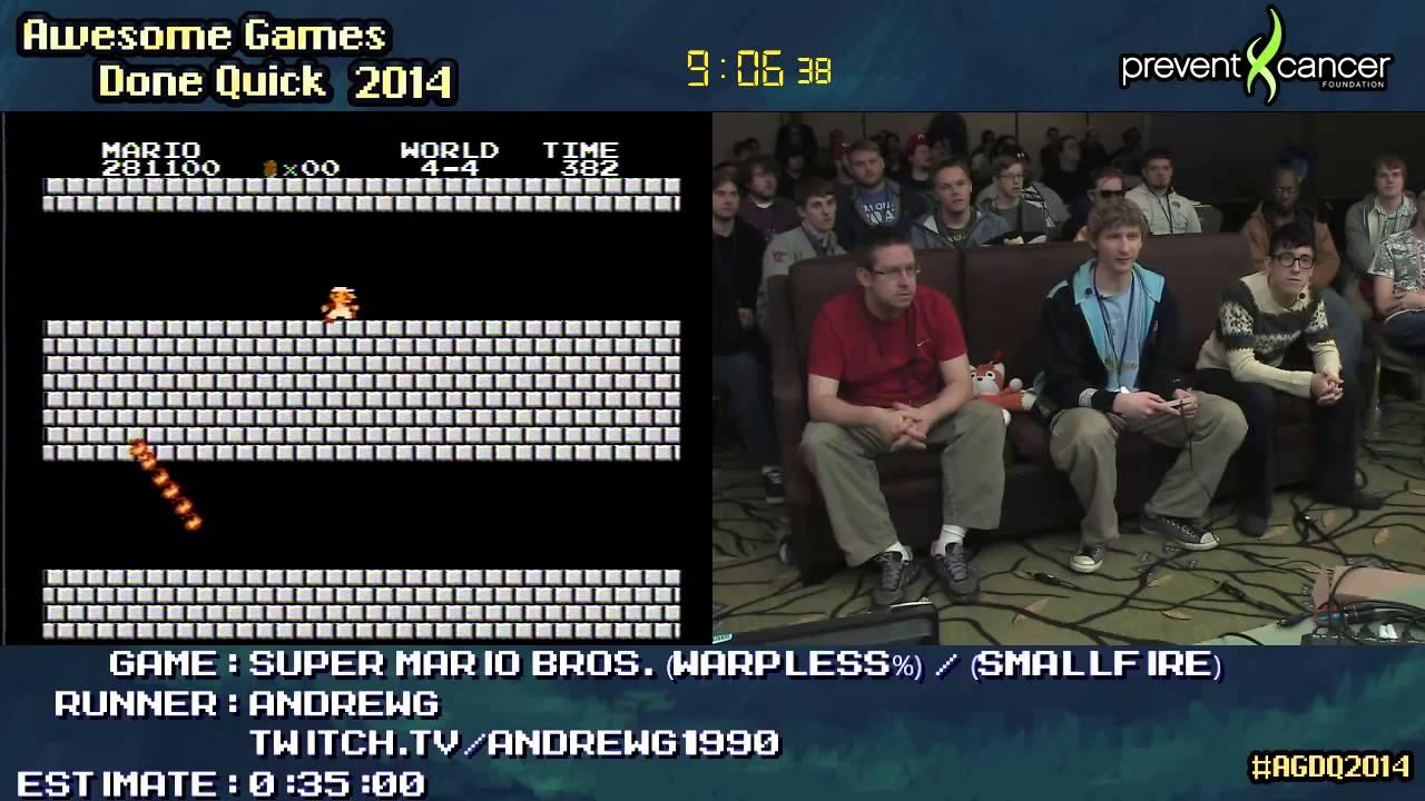 Super Mario Bros Speed Run Warpless 0 21 10 By Andrewg Agdq 2014